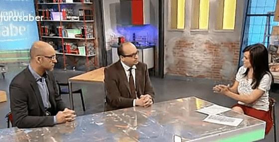 Aitor Curiel y David Cortejoso en el programa 'La experiencia del saber' de TVE 2