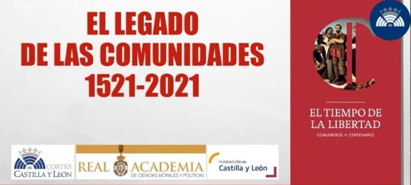 Acto de clausura del V Centenario del Movimiento Comunero al que acudió el Rector de la Universidad Isabel I