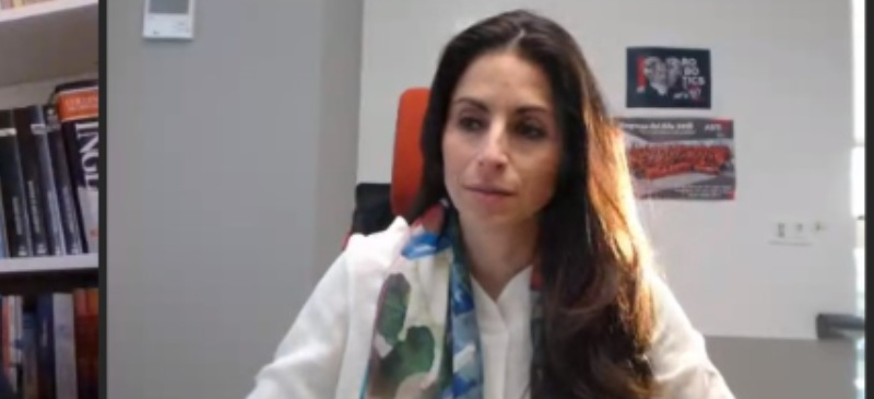 Verónica Pascual durante la masterclass