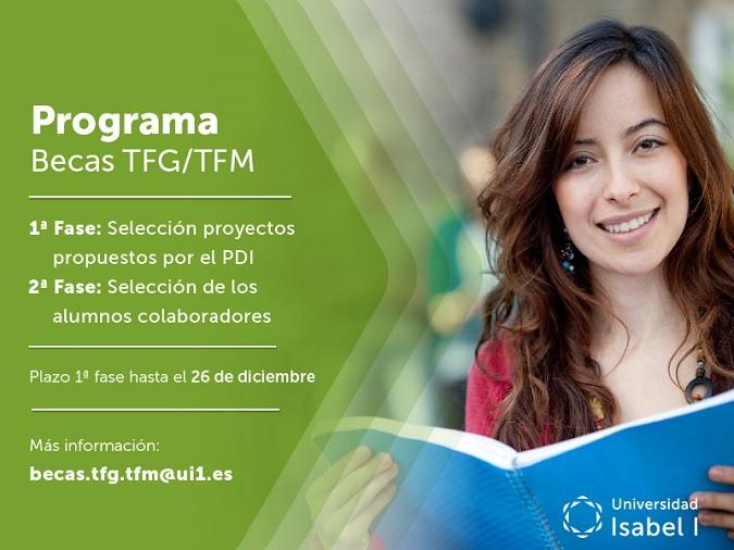 La Universidad Isabel I convoca becas para realizar TFG y TFM orientados a las lineas estratégicas de la institución