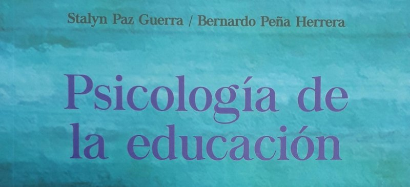 Parte de la portada de uno de los libros publicados por Bernardo Peña