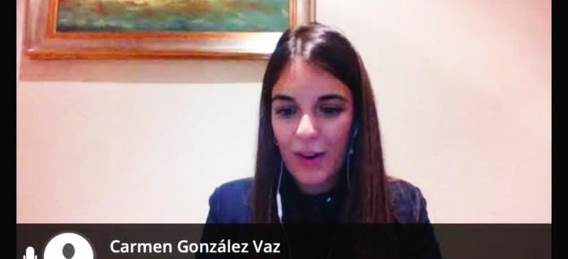 Carmen González Viz, en el webinar sobre el terrorismo