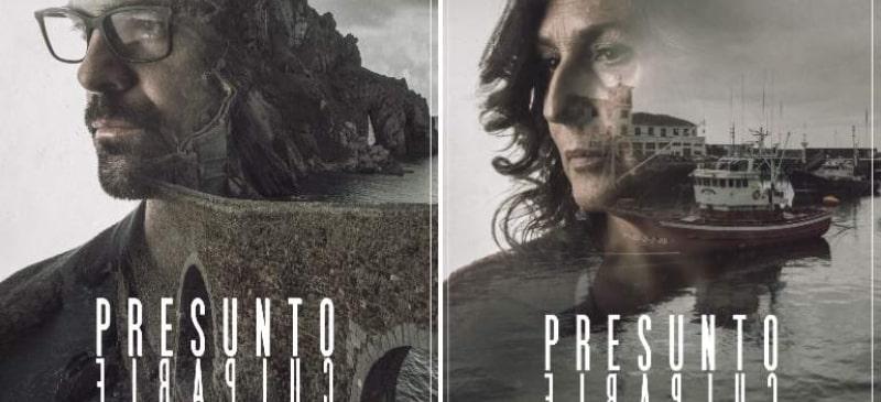 carteles con dos de los protagonistas de la serie Presunto Culpable