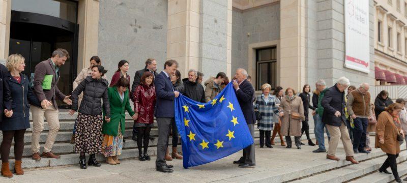 Entrega bandera europa