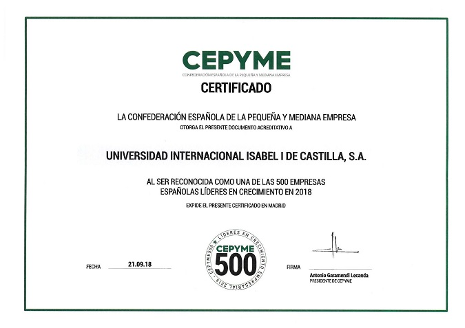 Certificapdo CEPYME500