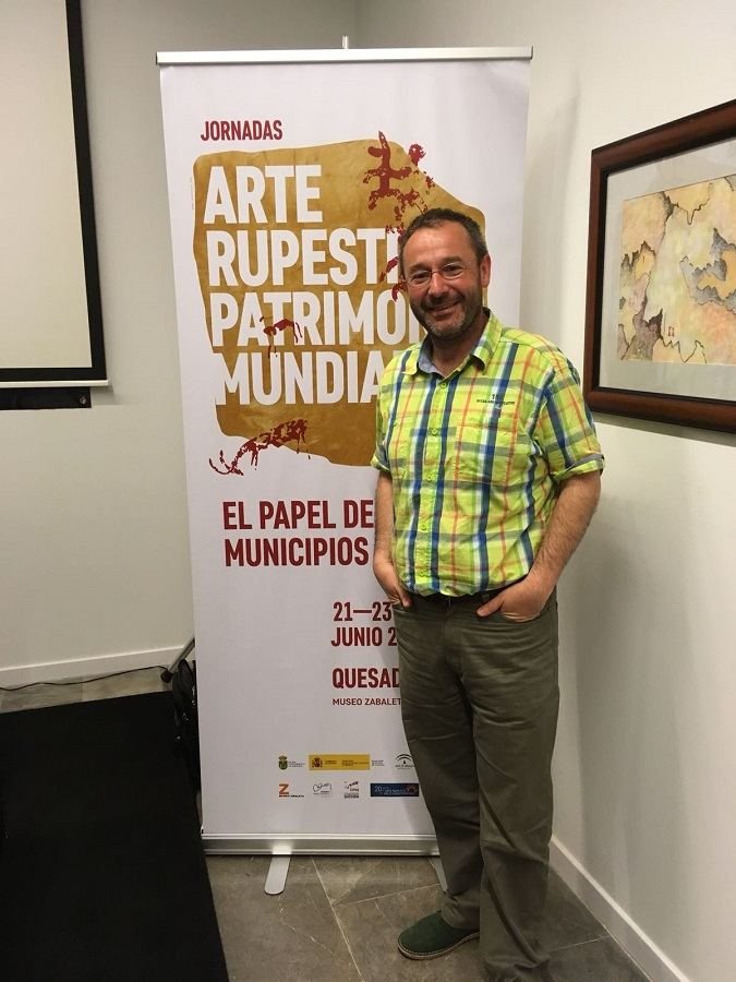 Marcos García Diez en las Jornadas sobre Arte Rupestre y Patrimonio Mundial.