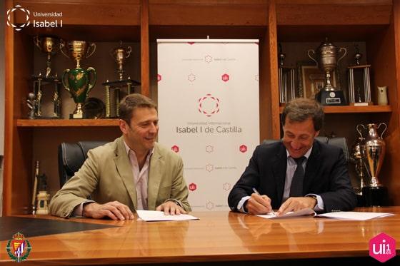 Firma del convenio entre la Universidad Isabel I y la Fundación Real Valladolid
