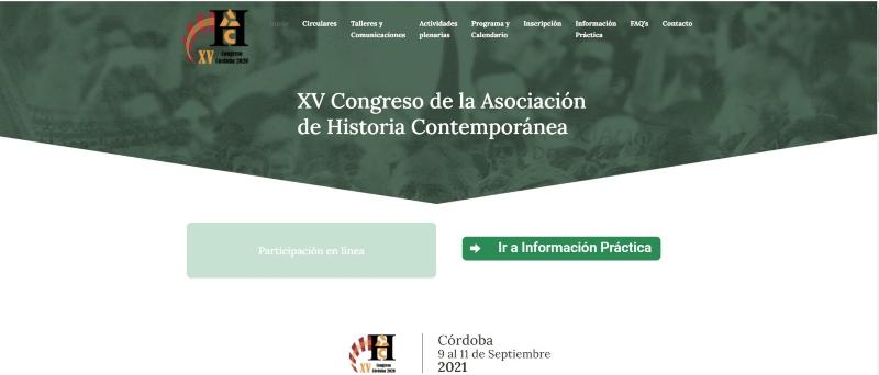 Portal del Congreso Internacional de Historia Contemporánea