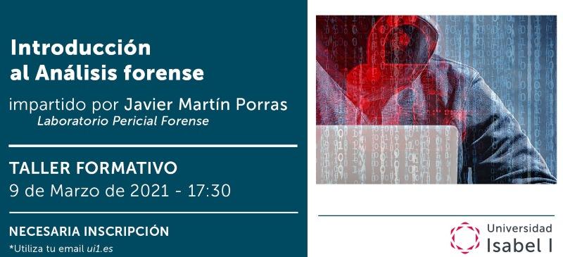 Presentación del webinar  del profesor Javier Martín Porras de la Universidad Isabel I