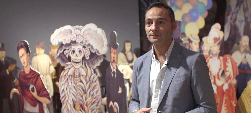 Javier García-Luengo interviene en la inauguración de la exposición con su charla Diego Rivero
