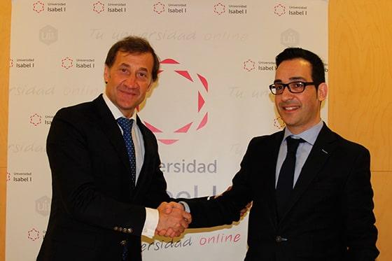 Firma del convenio de colaboración entre la Universidad Isabel I y EEME Business School