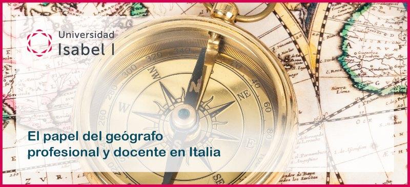 creatividad del webinar de geografía en Italia