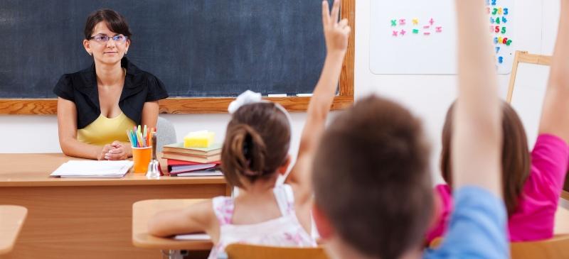 Clase de niños de educación primaria.