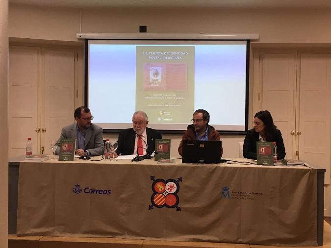 Presentación del libro La Tarjeta de Identidad Postal en España en el marco de la Exposición Nacional de Filatelia