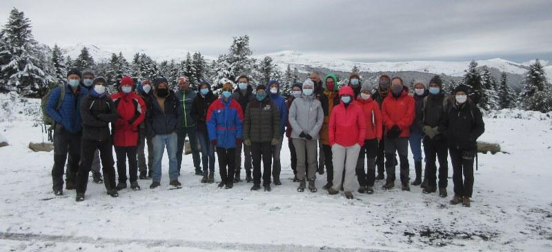 Reunión del equipo del congreso de divulgación científica en Ariège, Francia