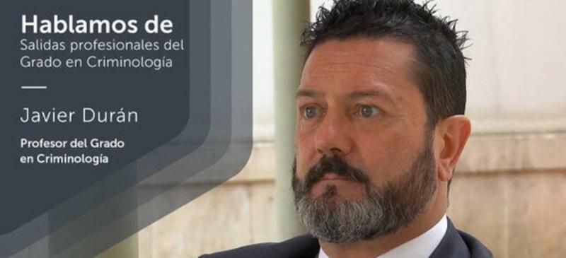 Javier Durán, profesor de la Facultad Criminología de la Universidad Isabel I