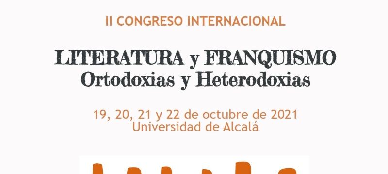 Cabecera de la página web del II Congreso Internacional Literatura y Franquismo