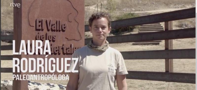 Laura Rodríguez en el yacimiento de Pinilla del Valle, Madrid