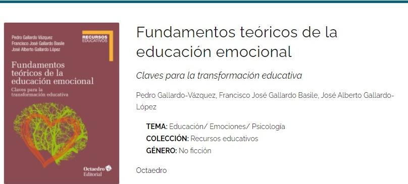 portada del libro de educación emocional