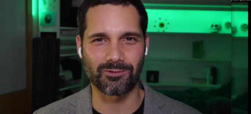 Luis Quevedo durante el webinar internacional en la  ICFJ-IJNet