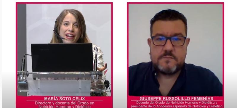 Maria Soto y Giuseppe Russolillo en el webinar de ayer