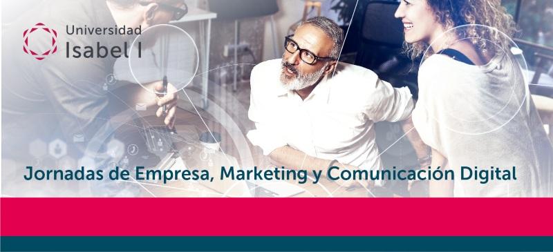 Creatividad del webinar de jornada de ADE y Marketing Digital