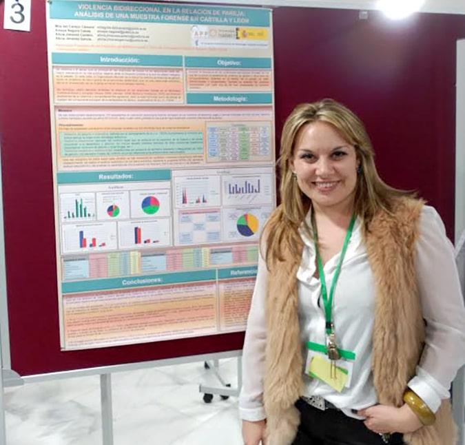 Milagros del Campo, profesora de la Universidad Isabel I, participó la semana pasada en el Congreso de Psicología Jurídica