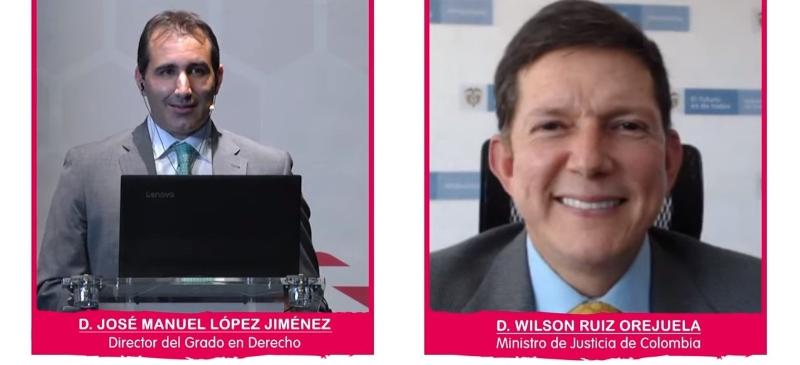 José Manuel López Jiménez y Wilson Ruiz Orejuela durante el webinar