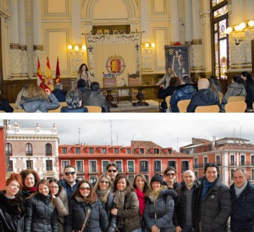 Estudiantes italianos de la Isabel I son recibidos en el Ayuntamiento de Valladolid