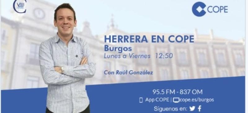 Carátula del programa de Raúl González en Cope Burgos