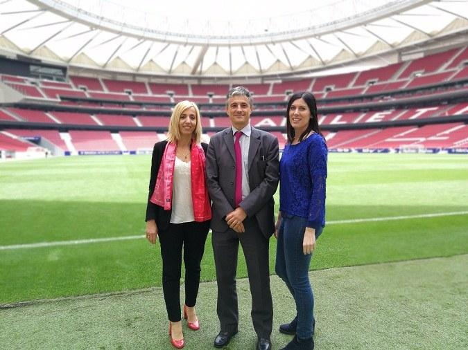 La Universidad Isabel I en la visita técnica del Círculo de Gestores Deportivos al Wanda Metropolitano