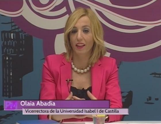 Olaia Abadía, vicerrectora de Ordenación Académica de la Universidad Isabel I, en su entrevista en Telearanda