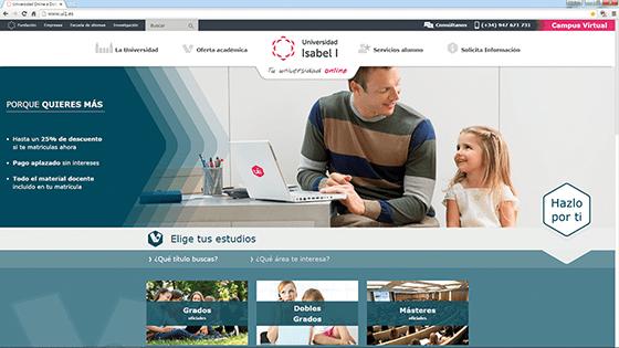 Nueva web de la Universidad Isabel I