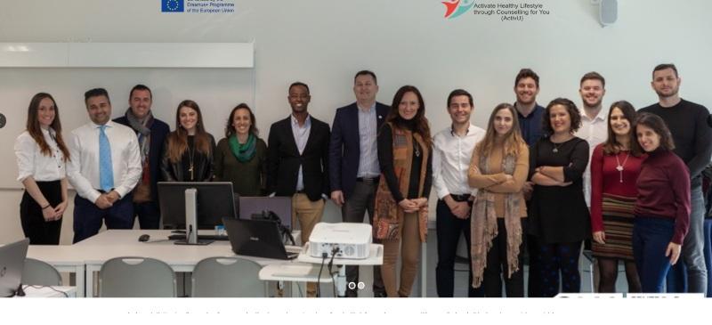 Reunión del equipo ActivU en el Instituto Politécnico de Maia, en Portugal, en febrero de 2020.