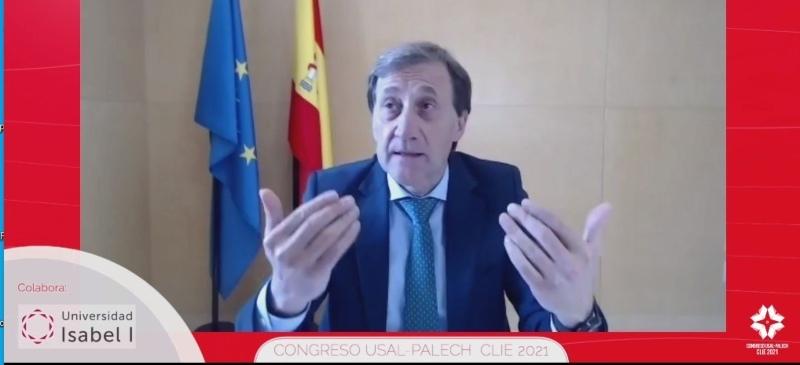 Alberto Gómez Barahona, rector de la Universidad Isabel I, en la conferencia Palech