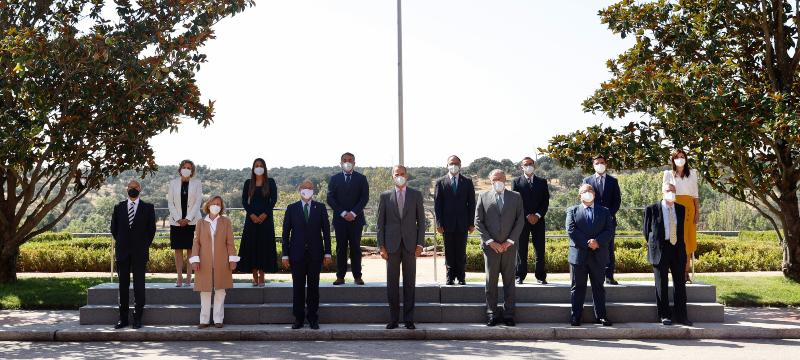 Recepción de Felipe VI al Comité Científico del V Centenario de los Comuneros