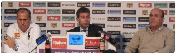 Rueda de prensa en la Fundación Real Valladolid
