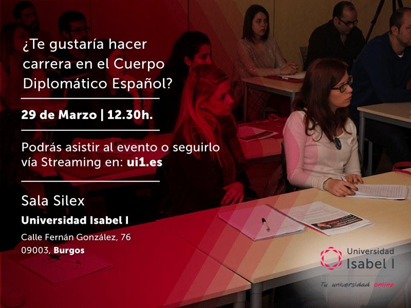 La Universidad Isabel I invita a los universitarios a una charla sobre las salidas laborales del Cuerpo Diplomático Español