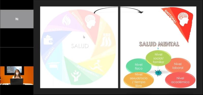 Imagen del webinar en el que participa Elena Serrano