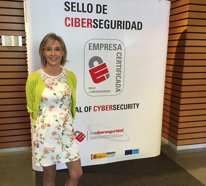 Luisa Sanz, en la presentación del Sello de Ciberseguridad AEI
