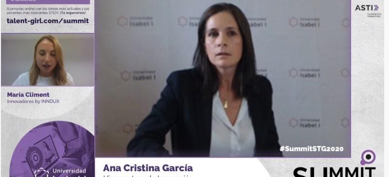 Ana Cristina García Pérez, participa en la inauguración del curso Stem Talent Girl