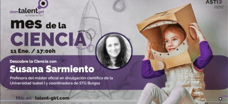 Presentación del mes de la ciencia de Susana Sarmiento, de la Universidad Isabel I