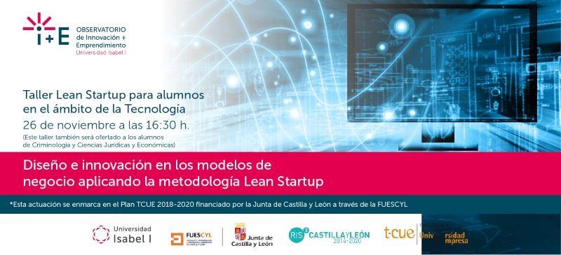 cabecera de invitación al taller de lean startup del 26 de noviembre