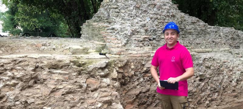 Alberto Romero participa en las excavaciones arqueológicas del Monte Palatino en Roma