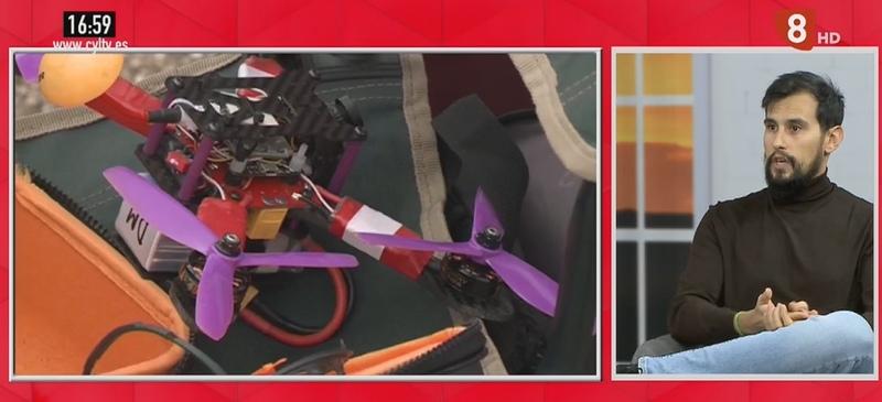 Víctor Rodríguez en el programa de La 8 Burgos, habla sobre el uso de drones