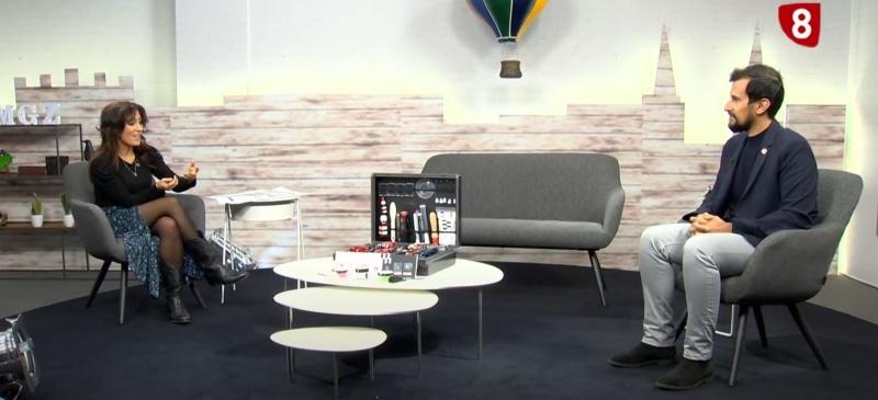 Víctor Rodríguez en el programa de La 8 Burgos, habla sobre el maletín de criminología