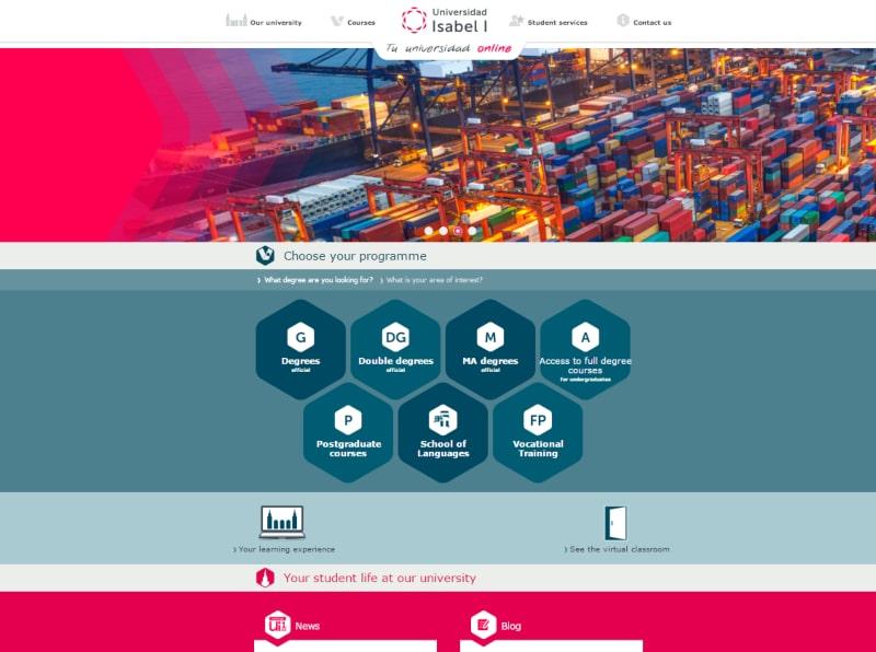 La Universidad Isabel I lanza una versión de su página web en inglés
