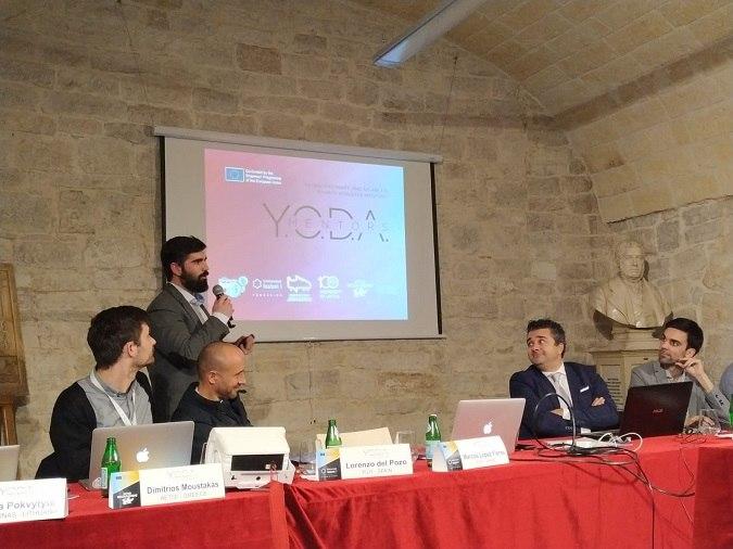 Marcos Lopez en la reunion del proyecto YODA Mentors